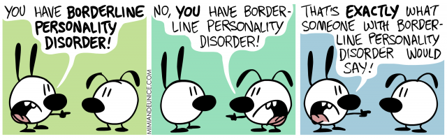 you have borderline personality disorder, that's exactly what someone with bpd would say